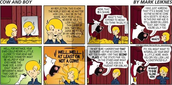 Cow and Boy Classics on Sunday February 18, 2007 Comic Strip