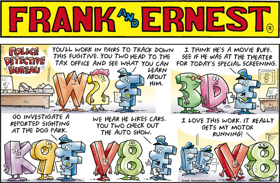 Frank and Ernest Comic Strip for March 01, 2020