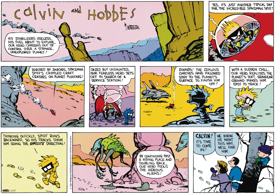 Calvin and Hobbes Comic Strip for January 17, 2021
