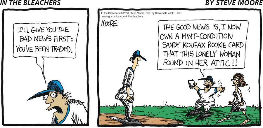 In the Bleachers Comic Strip for July 31, 2016