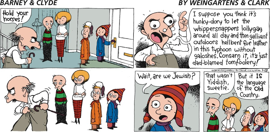 Barney & Clyde Comic Strip for January 13, 2013