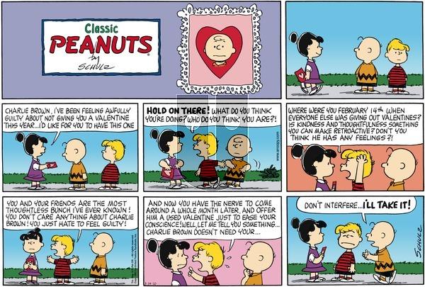 Peanuts - Sunday March 14, 2010 Comic Strip