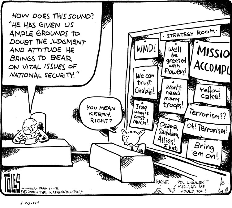Tom Toles for May 2, 2004 Comic Strip
