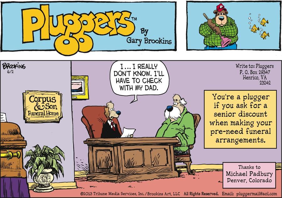 Pluggers for Jun 2, 2013 Comic Strip