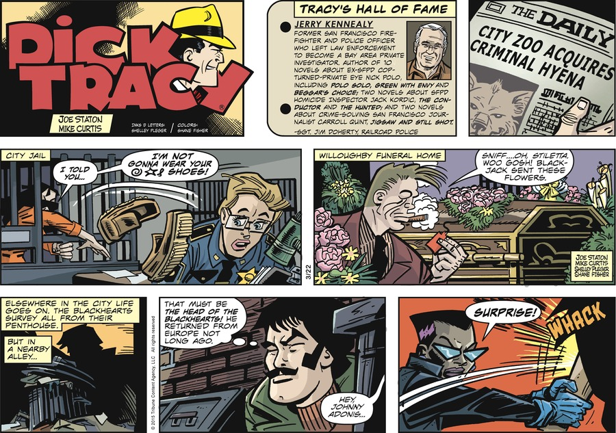 Dick Tracy Comic Strip for March 22, 2015
