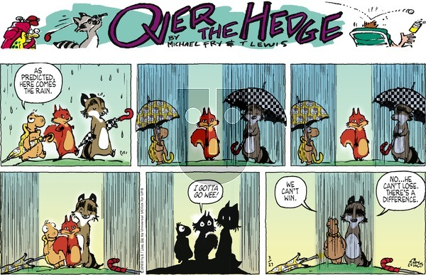 Over the Hedge on Sunday March 27, 2016 Comic Strip