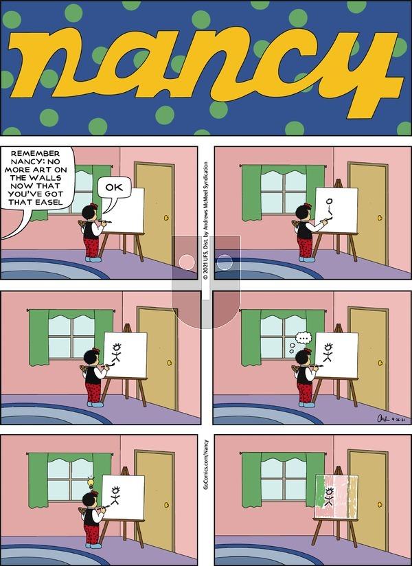 Nancy on Sunday September 26, 2021 Comic Strip