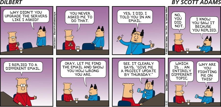 Clear Email From Boss - Dilbert by Scott Adams