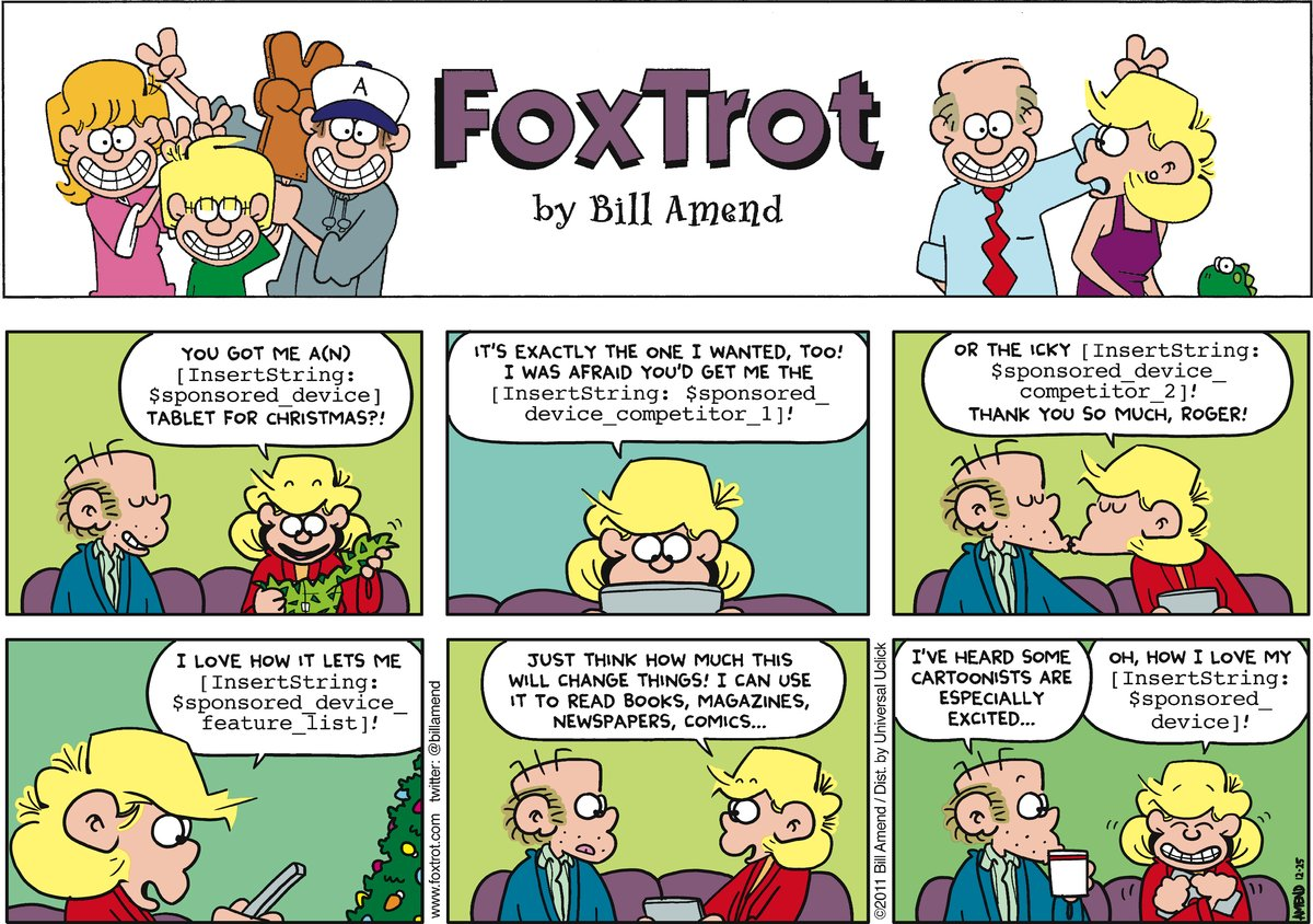 FoxTrot Comic Strip for December 25, 2011