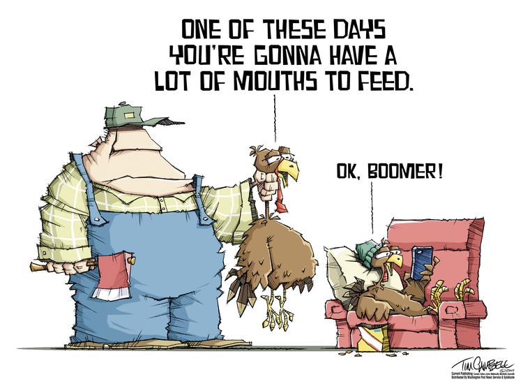 Tim Campbell Comic Strip for November 25, 2019