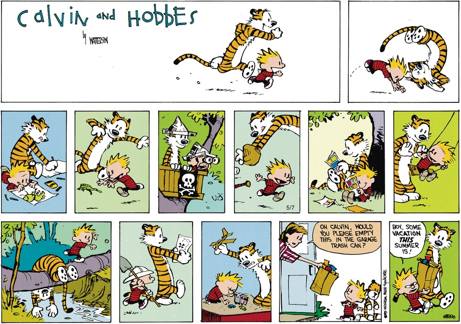 Calvin and Hobbes Comic Strip for August 07, 1994