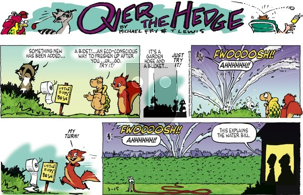 Over the Hedge on Sunday March 15, 2020 Comic Strip