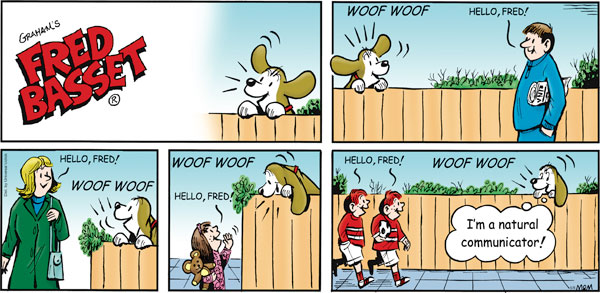Fred Basset Comic Strip for May 08, 2011