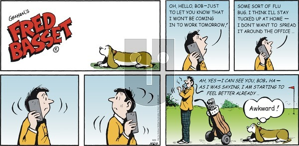Fred Basset - Sunday August 23, 2020 Comic Strip