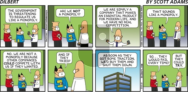 Dilbert on Sunday August 30, 2020 Comic Strip
