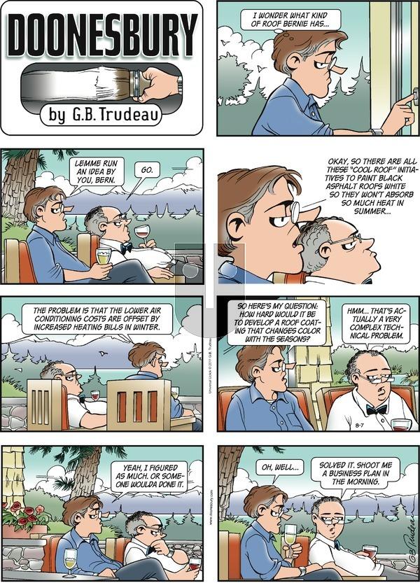 Doonesbury on Sunday August 7, 2011 Comic Strip