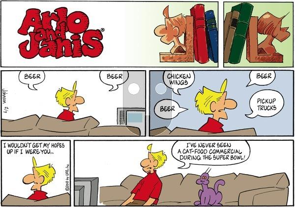 Arlo and Janis on Sunday February 7, 2010 Comic Strip