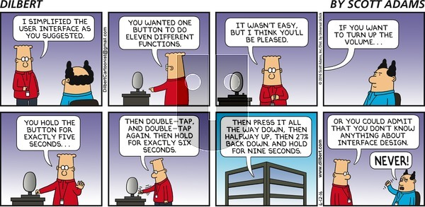 Dilbert on Sunday June 12, 2016 Comic Strip
