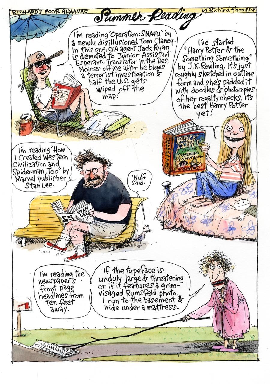 Richard's Poor Almanac Comic Strip for August 02, 2015