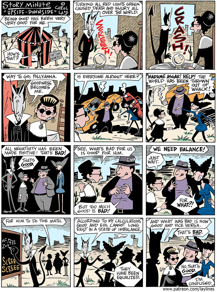 Lay Lines Comic Strip for January 24, 2018