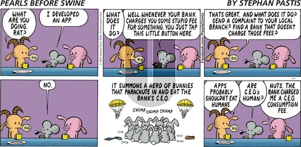 Pearls Before Swine on Sunday March 13, 2016 Comic Strip