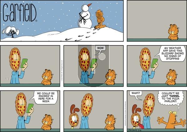 Garfield on Sunday February 16, 2020 Comic Strip