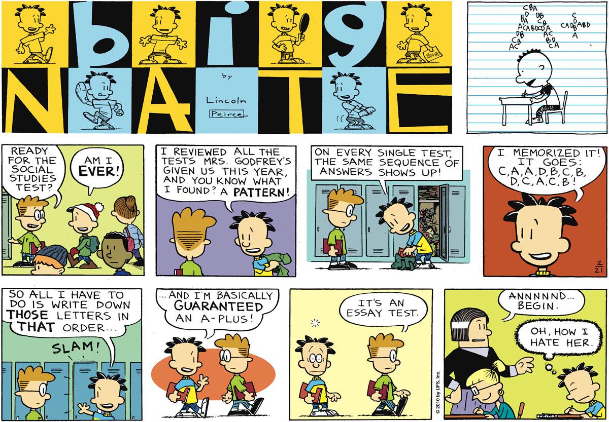 Big Nate Comic Strip for February 21, 2010
