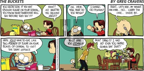 The Buckets on Sunday April 14, 2019 Comic Strip