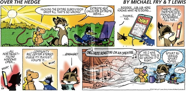 Over the Hedge on Sunday July 30, 2017 Comic Strip