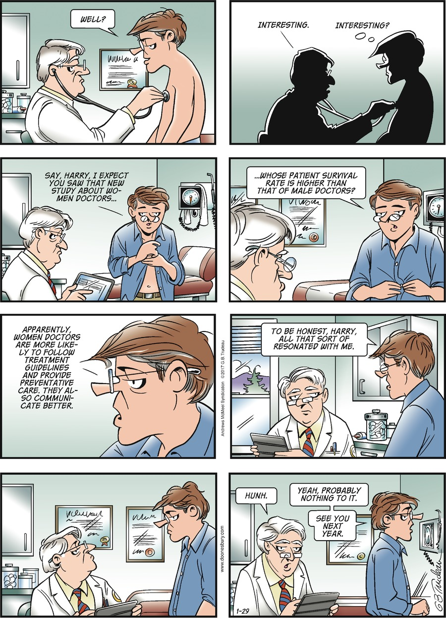 Doonesbury Comic Strip for January 29, 2017