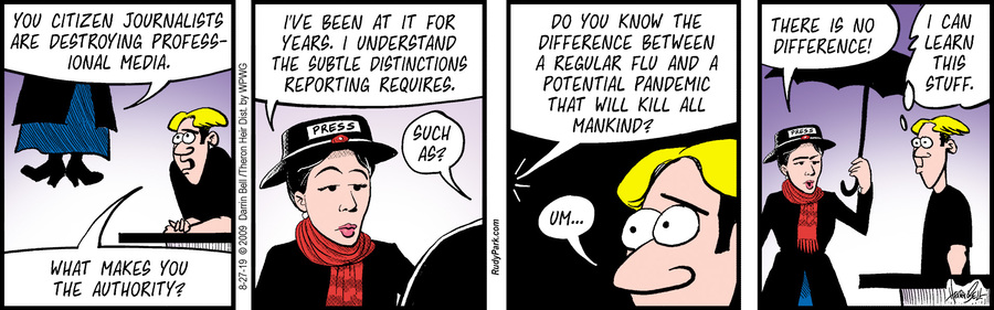 Rudy Park Comic Strip for August 27, 2019