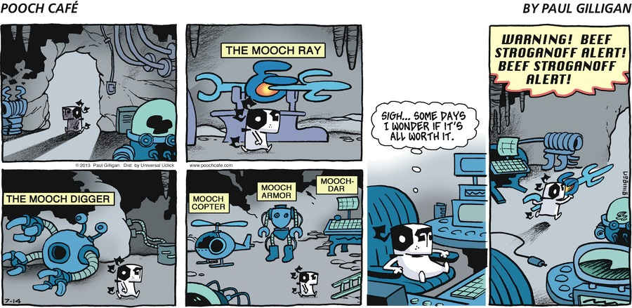Pooch Cafe Comic Strip for July 14, 2013
