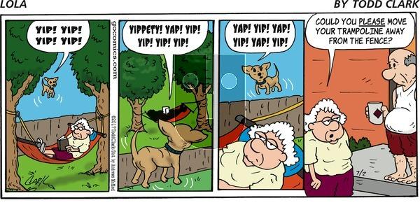 Lola on Sunday July 2, 2017 Comic Strip