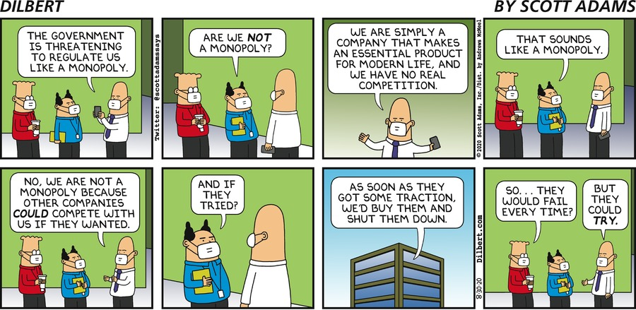 Not A Monopoly - Dilbert by Scott Adams