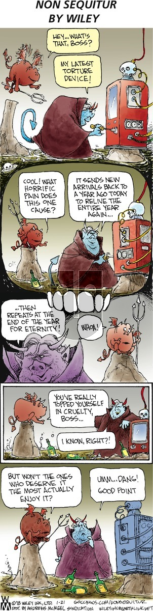 Non Sequitur on Sunday January 21, 2018 Comic Strip