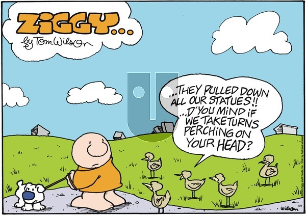 Ziggy on Sunday August 9, 2020 Comic Strip