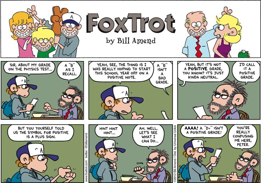 FoxTrot for Sep 16, 2012 Comic Strip