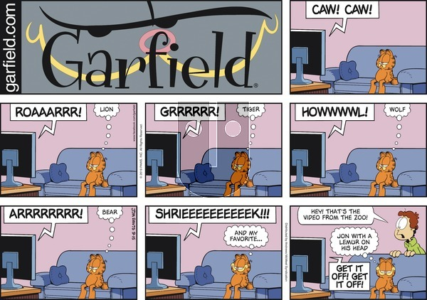 Garfield on Sunday September 15, 2019 Comic Strip