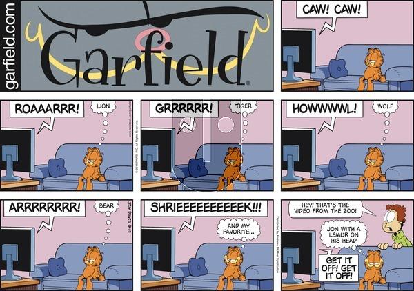 Garfield - Sunday September 15, 2019 Comic Strip