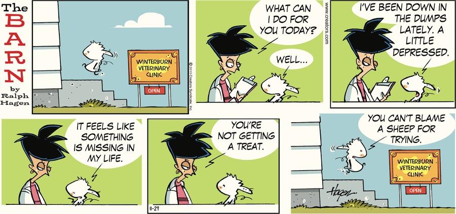The Barn Comic Strip for November 29, 2015