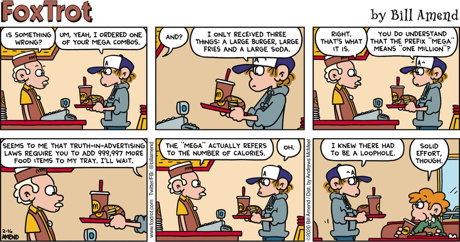 FoxTrot Comic Strip for February 16, 2020