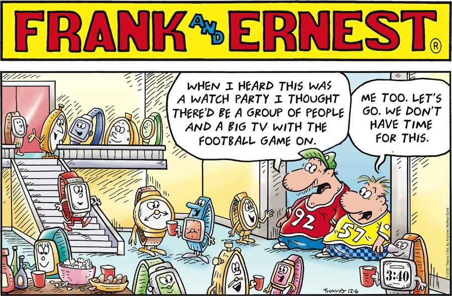 Frank and Ernest Comic Strip for December 06, 2020