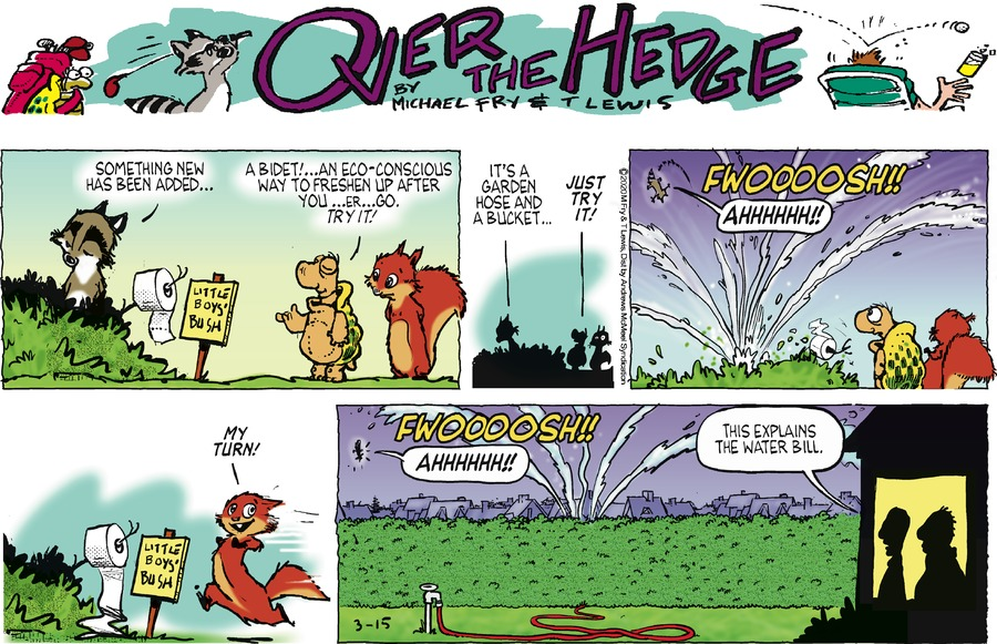 Over the Hedge Comic Strip for March 15, 2020
