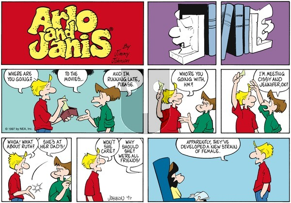 Arlo and Janis on Sunday October 5, 1997 Comic Strip
