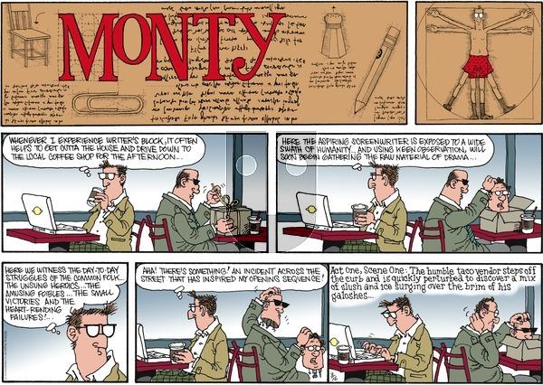 Monty on Sunday March 16, 2014 Comic Strip