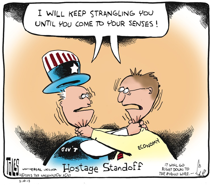 Government and Economy: I will keep strangling you until you come to your senses! Hostage Standoff