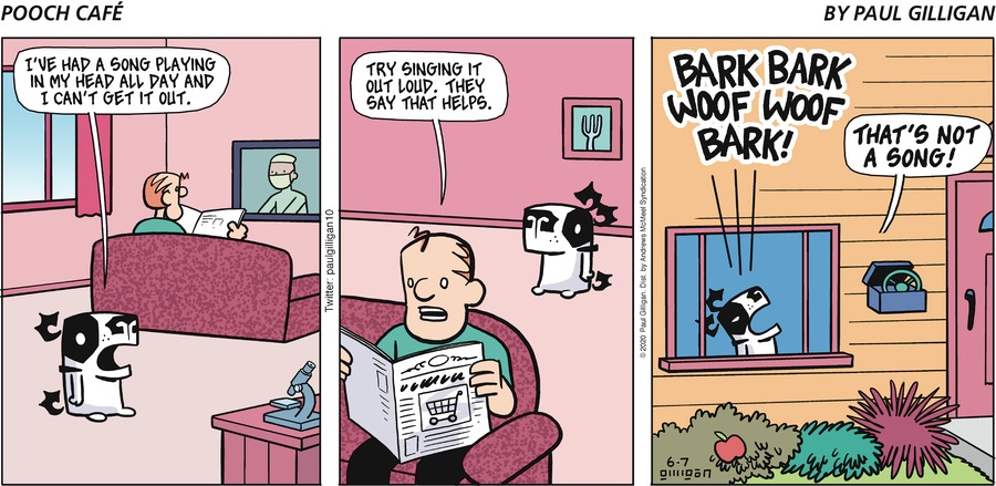 Pooch Cafe Comic Strip for June 07, 2020