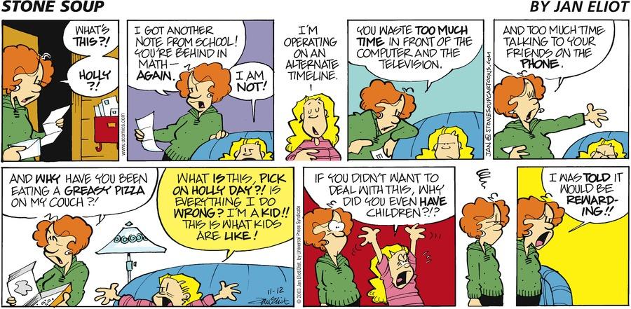 Stone Soup for Nov 12, 2006 Comic Strip