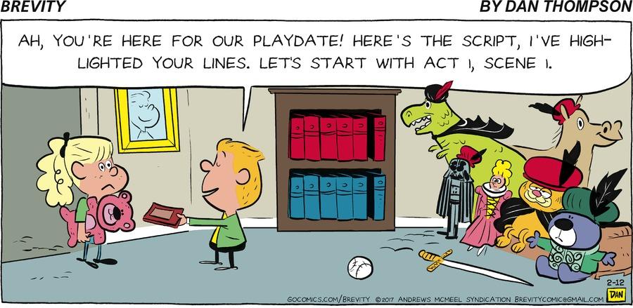Brevity for Feb 12, 2017 Comic Strip