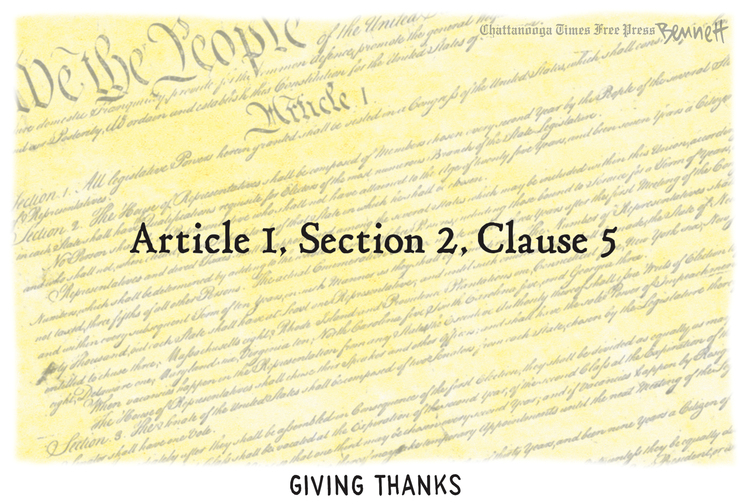 Clay Bennett by Clay Bennett on Thu, 28 Nov 2019